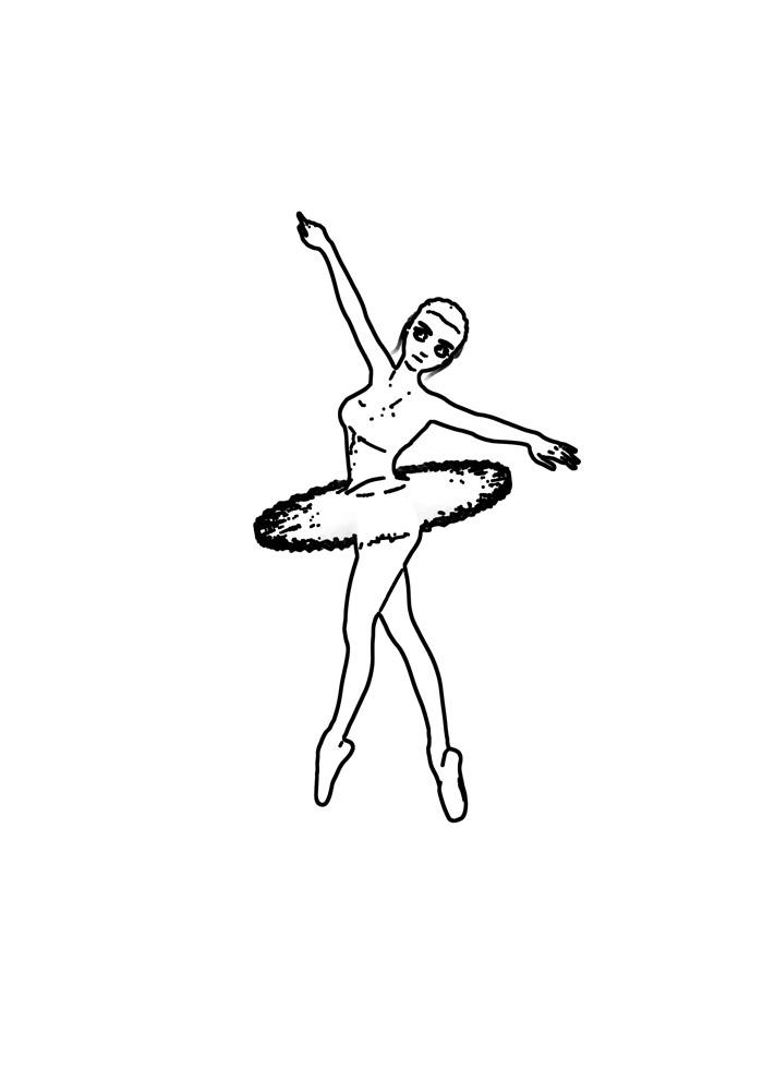 bailarina para colorir 17