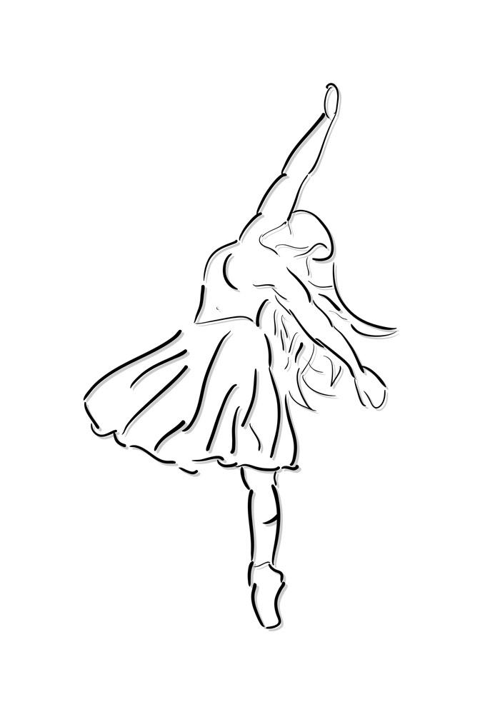 bailarina para colorir 19