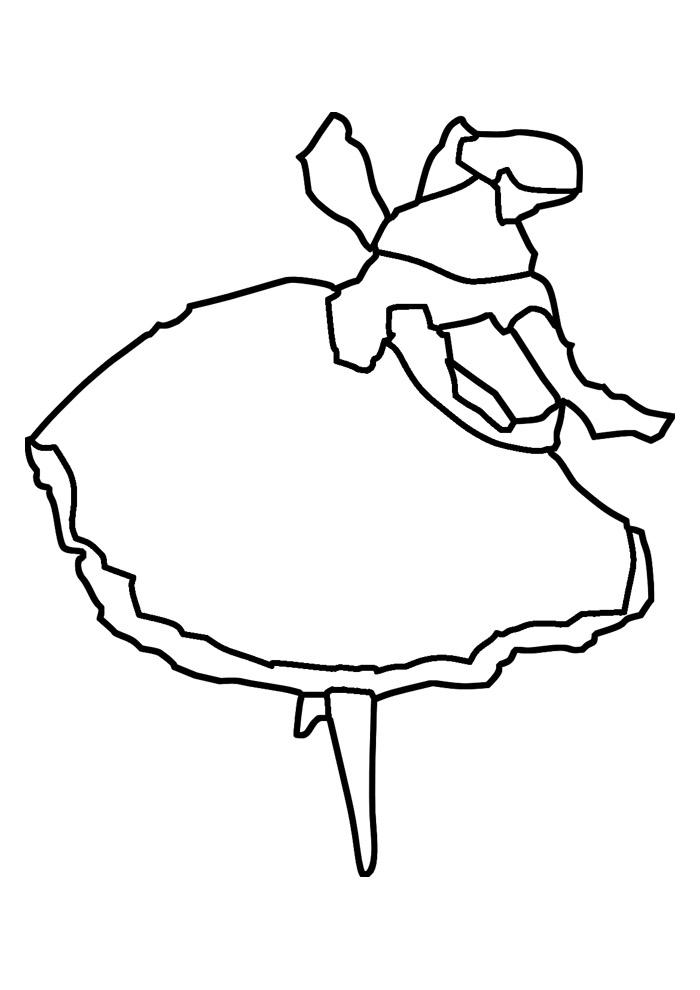 bailarina para colorir 2