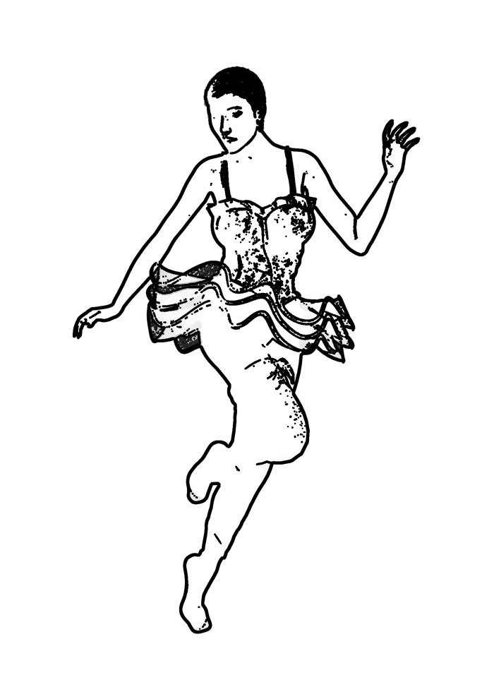 bailarina para colorir 27