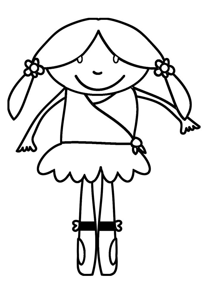 bailarina para colorir 3