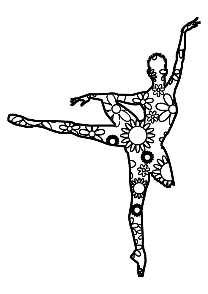 bailarina para colorir 34