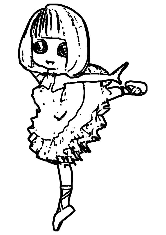 bailarina para colorir 4