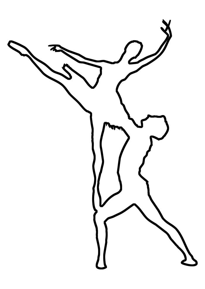 bailarina para colorir 5