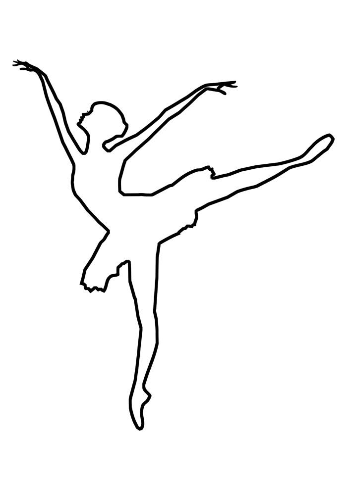 bailarina para colorir 7