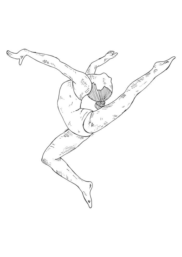 bailarina para colorir 9