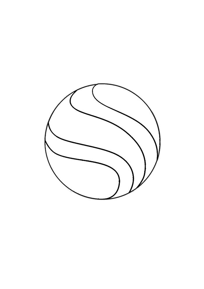 bola para colorir 1