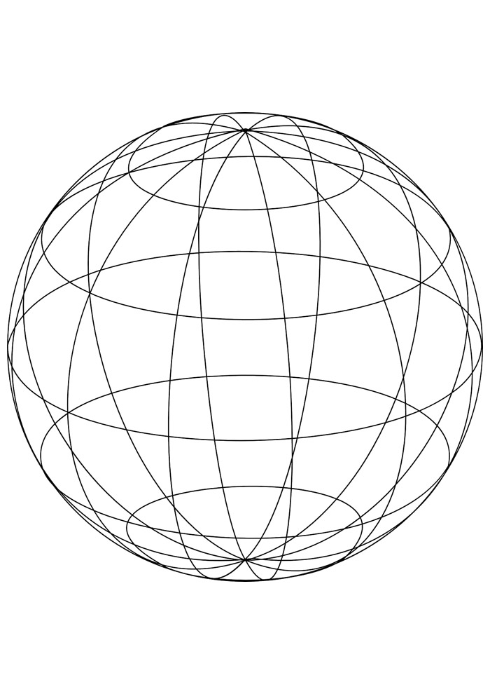 bola para colorir 10