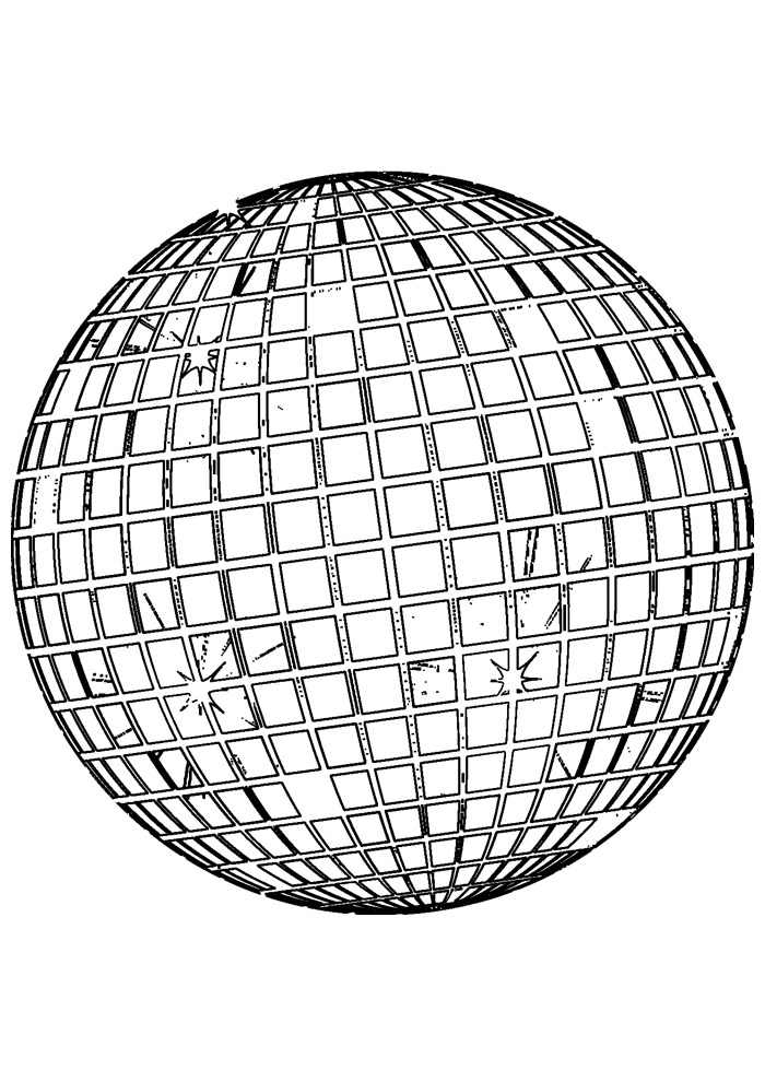 bola para colorir 11