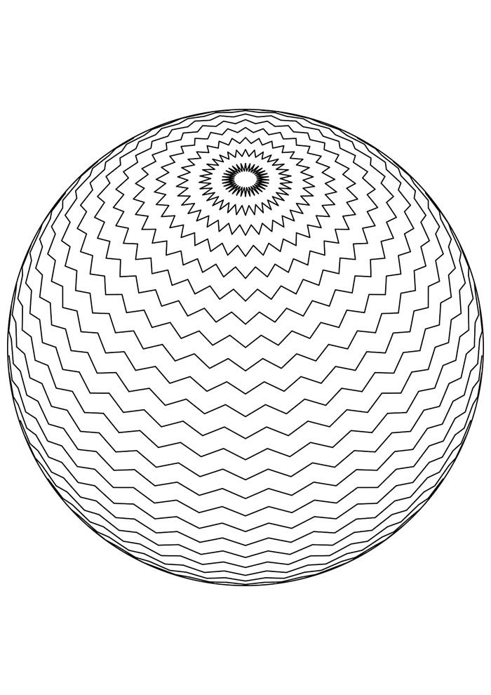 bola para colorir 12