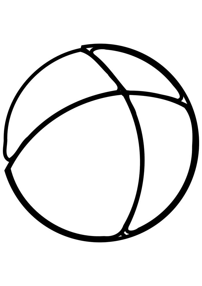 bola para colorir 4