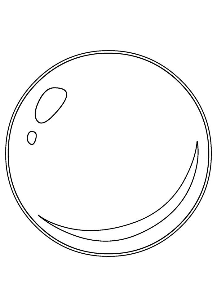 bola para colorir 7