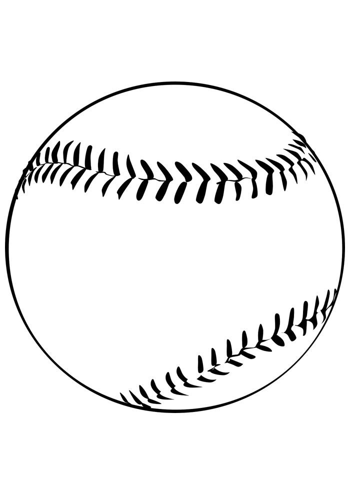 bola para colorir baseball 1
