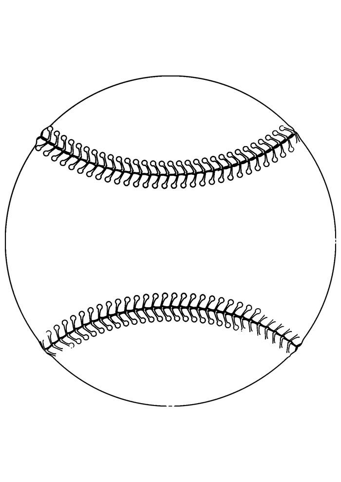 bola para colorir baseball 4