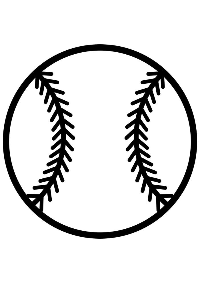 bola para colorir baseball 5