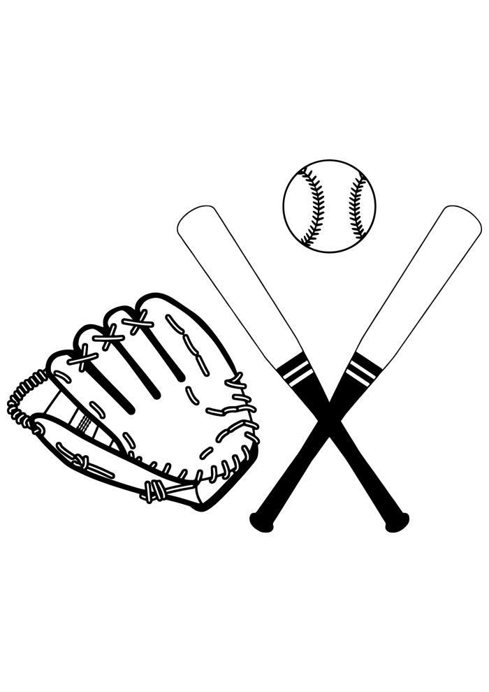 bola para colorir baseball 6