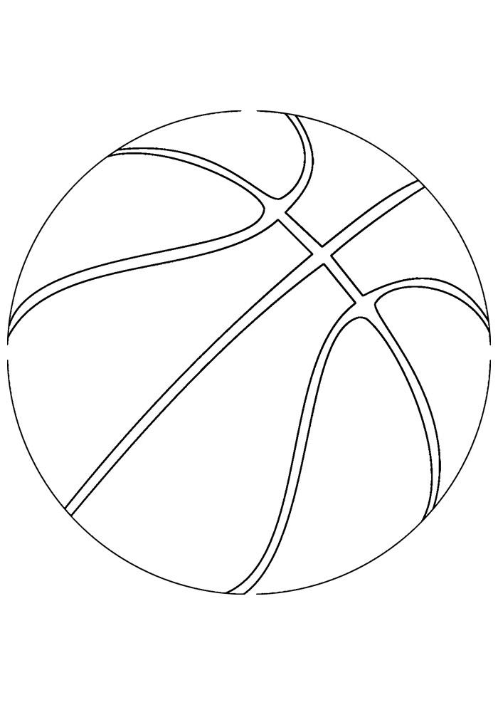 bola para colorir basquete 1