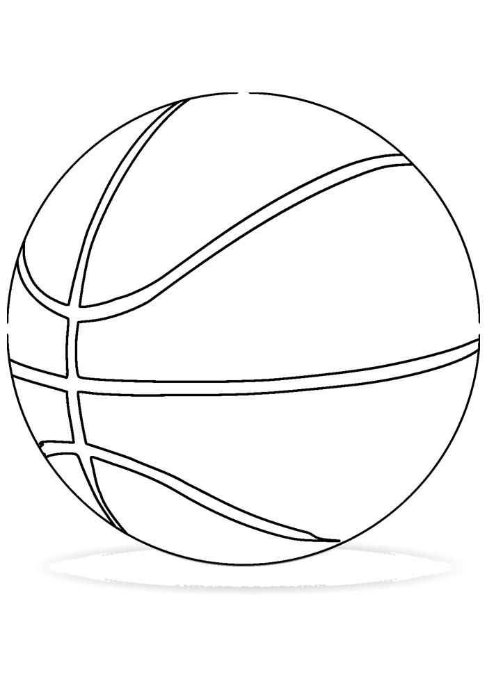 bola para colorir basquete 2