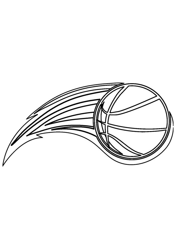 bola para colorir basquete 3