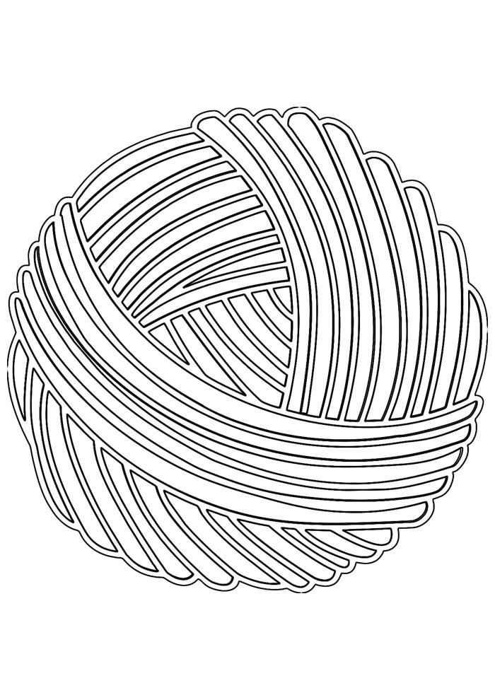 bola para colorir de lã 1