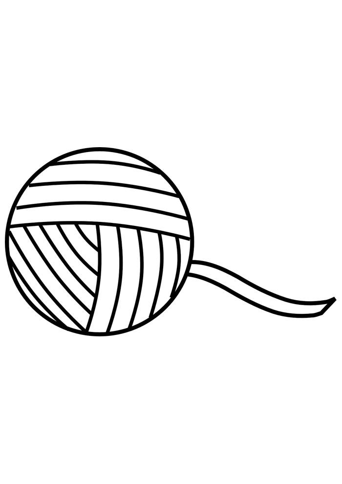 bola para colorir de lã 2