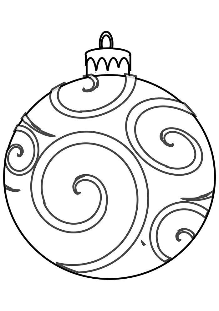bola para colorir de natal 1