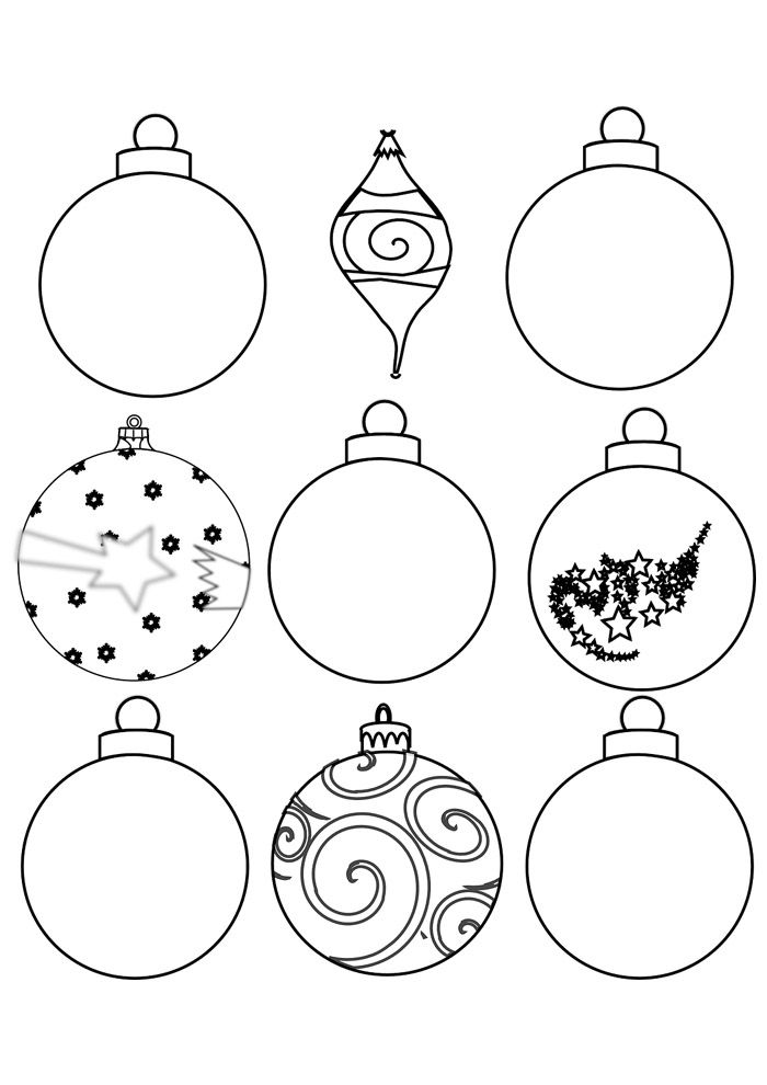 bola para colorir de natal 2