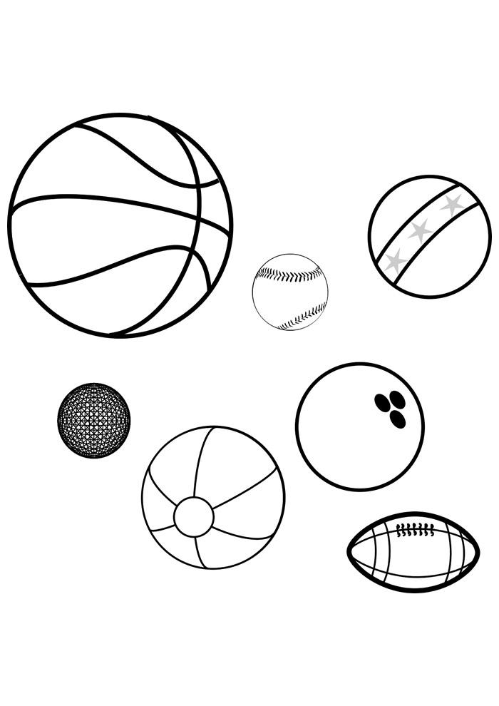 bola para colorir esportes