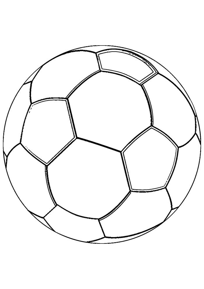 bola para colorir futebol 1