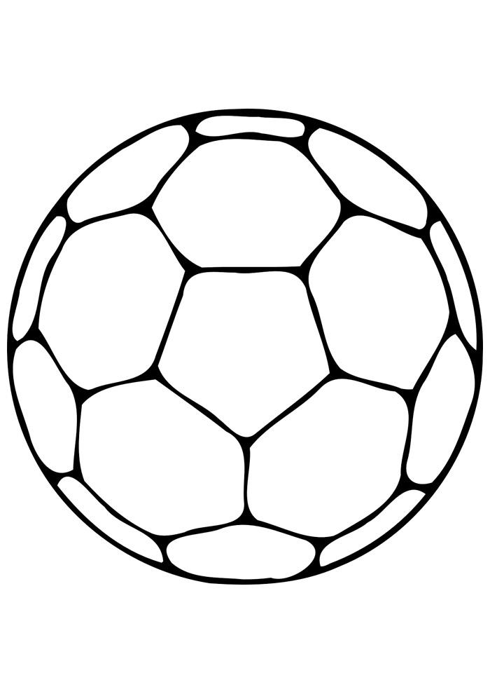 bola para colorir futebol 2