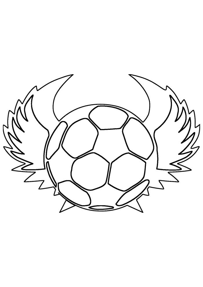 bola para colorir futebol 3