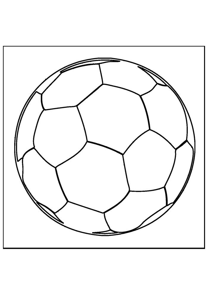 bola para colorir futebol 4