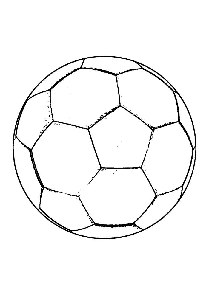 bola para colorir futebol 6
