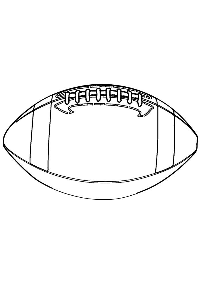 bola para colorir futebol americano 1