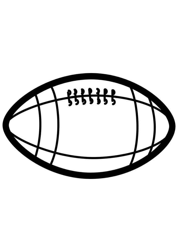 bola para colorir futebol americano 2