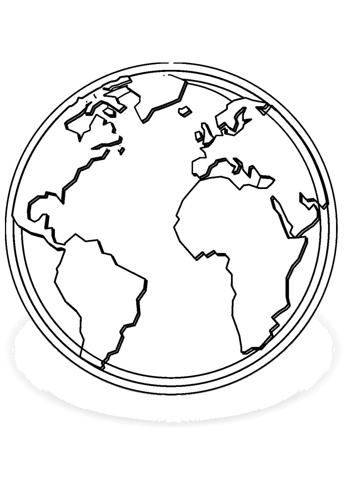 bola para colorir mapa mundi