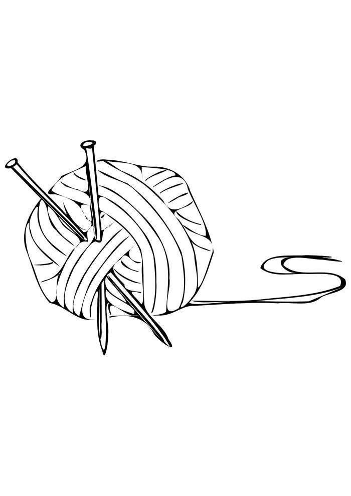 bola para colorir novelo de lã