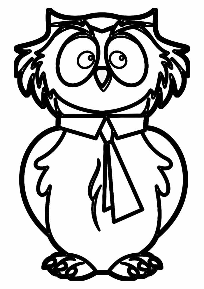 coruja para colorir 1