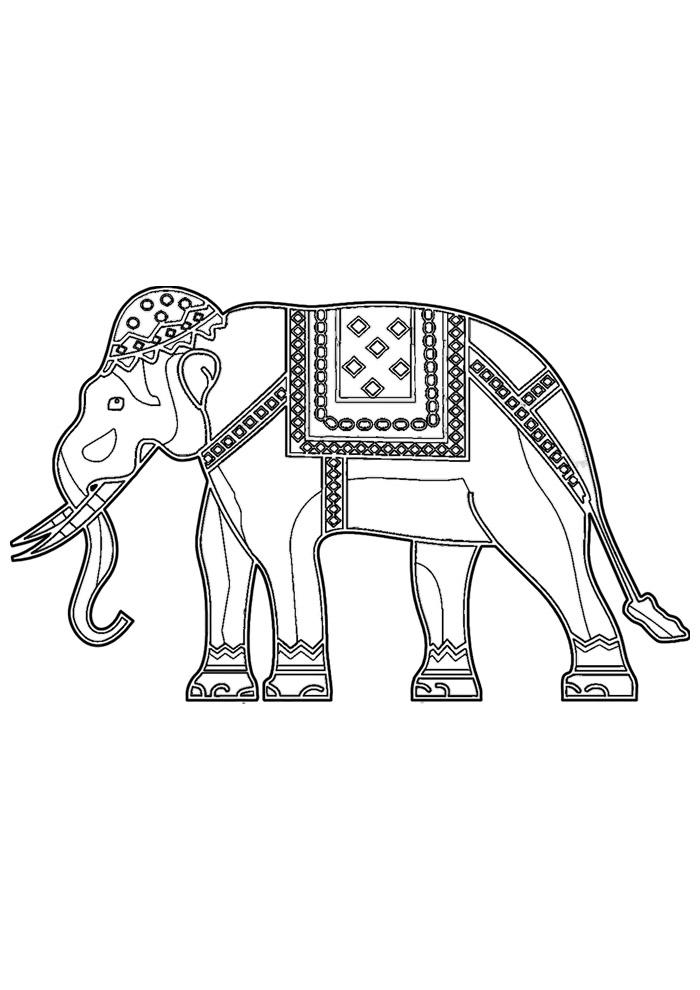 elefante para colorir 1