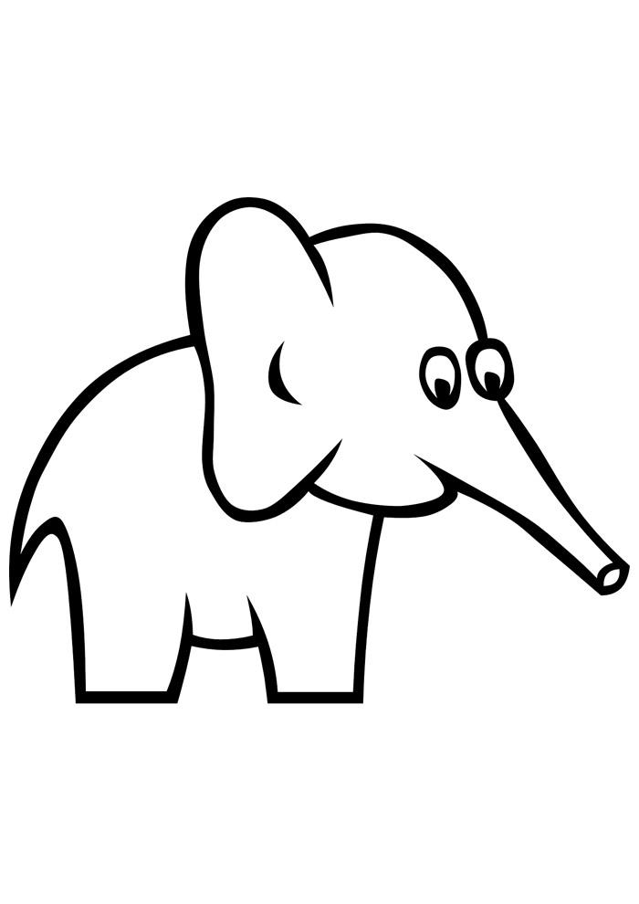 elefante para colorir 10