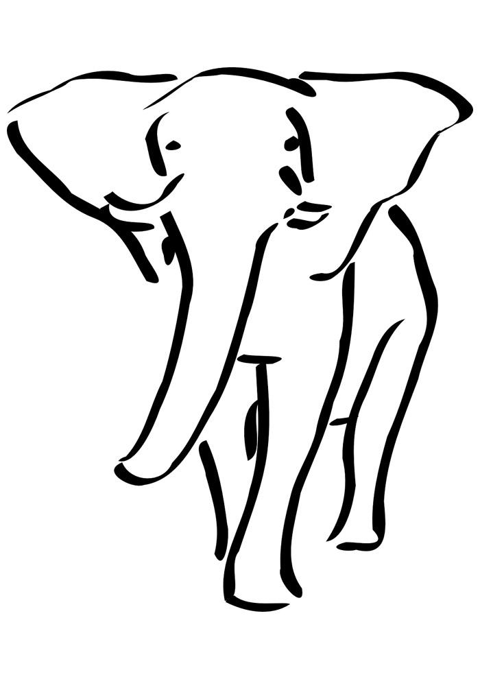 elefante para colorir 12
