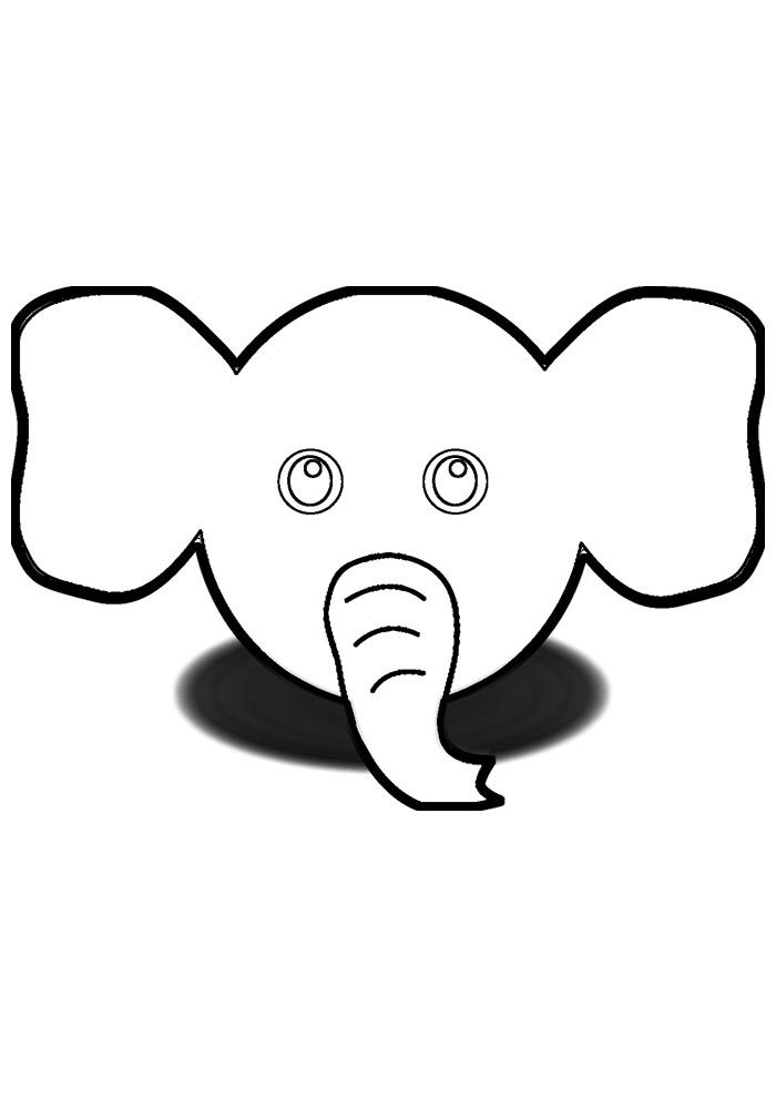 elefante para colorir 15