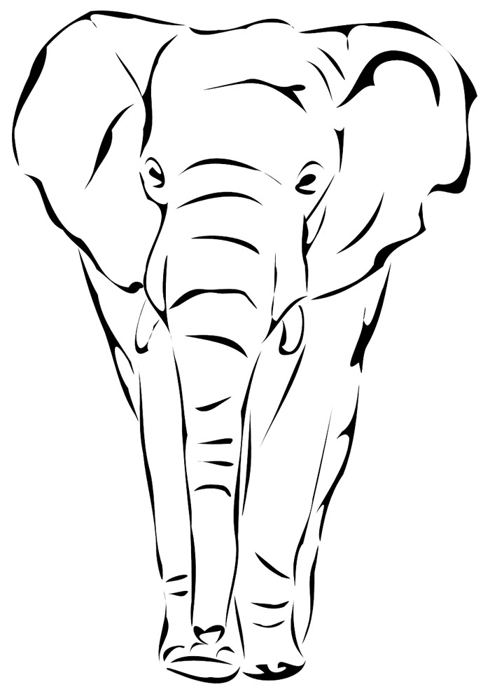 elefante para colorir 16