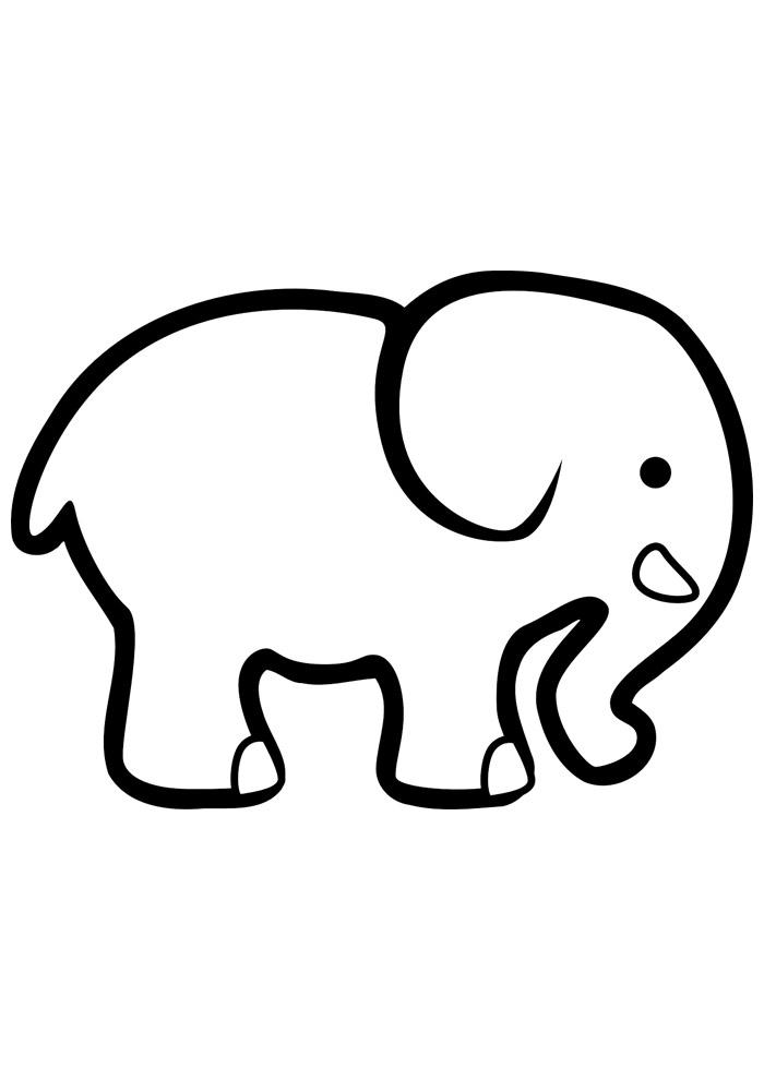 elefante para colorir 17