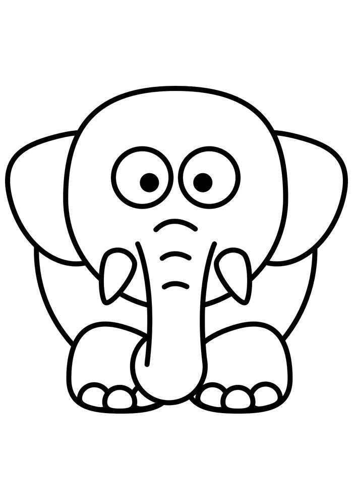 elefante para colorir 18
