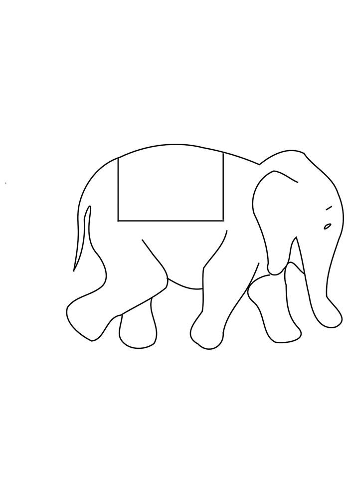 elefante para colorir 19