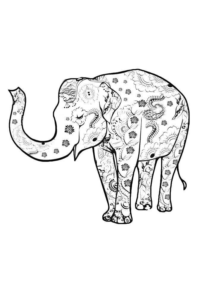 elefante para colorir 21