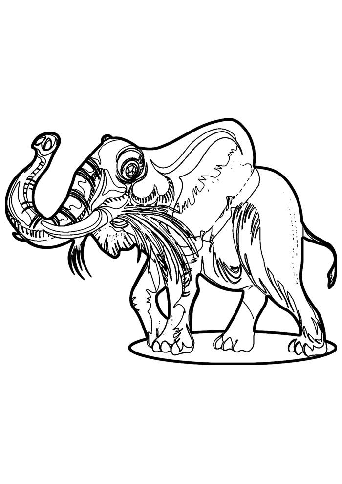 elefante para colorir 23