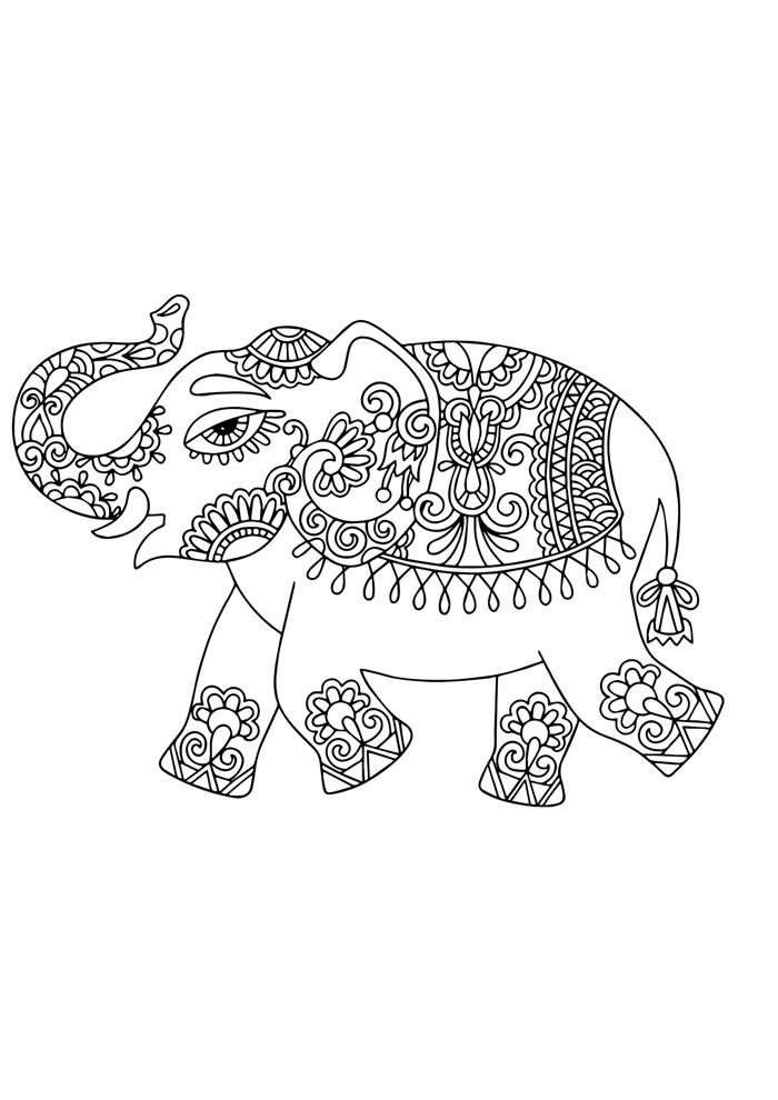 elefante para colorir 29