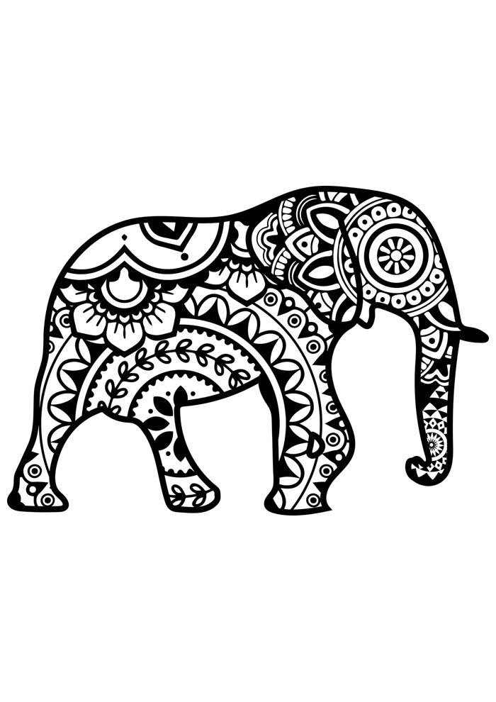 elefante para colorir 32